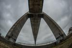 Onderaanzicht van de Pont de Normandië