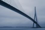Pont de Normandië met lange sluitertijd