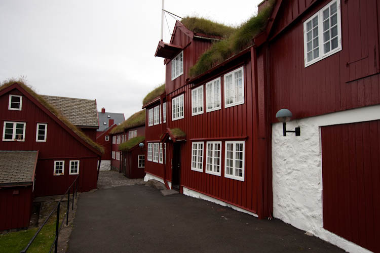 Oude stadsdeel van Thorshavn