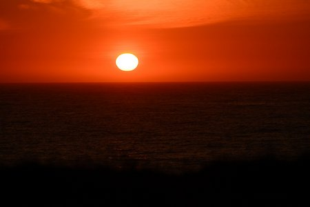 Zonsondergang bij Eggum